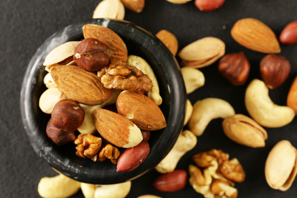 mix nuci seminte dieta cu fructe